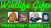 Wildlife Embroidery Portrait Gifts By Vodmochka Graffix