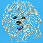 Bichon Frise Portrait #1 - Vodmochka Machine Embroidery Design Picture - Click to Enlarge