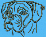 Boxer Portrait #1 - Vodmochka Machine Embroidery Design Picture - Click to Enlarge