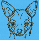 Chihuahua Portrait #1 - Vodmochka Machine Embroidery Design Picture - Click to Enlarge