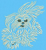 Maltese Agility #1 - Vodmochka Machine Embroidery Design Picture - Click to Enlarge