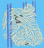 Maltese Agility #2 - Vodmochka Machine Embroidery Design Picture - Click to Enlarge