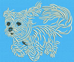 Maltese Agility #4 - Vodmochka Machine Embroidery Design Picture - Click to Enlarge