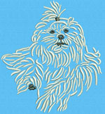 Maltese Agility #5 - Vodmochka Machine Embroidery Design Picture - Click to Enlarge