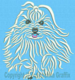 Maltese Agility #7 - Vodmochka Machine Embroidery Design Picture - Click to Enlarge