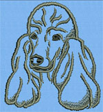 Poodle Portrait #1 Color1 - Vodmochka Machine Embroidery Design Picture - Click to Enlarge