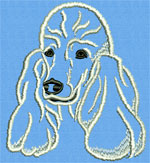 Poodle Portrait #1 - Vodmochka Machine Embroidery Design Picture - Click to Enlarge