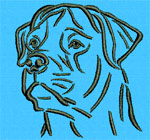 Rottweiler Portrait #1 - Vodmochka Machine Embroidery Design Picture - Click to Enlarge