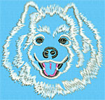 Samoyed Portrait #1 - Vodmochka Machine Embroidery Design Picture - Click to Enlarge