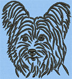 Yorkshire Terrier Portrait #2 - Vodmochka Machine Embroidery Design Picture - Click to Enlarge