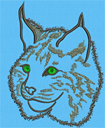 Bobcat Portrait #1 - Vodmochka Embroidery Design Picture - Click to Enlarge