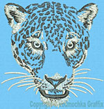 Jaguar Portrait #1 - Vodmochka Embroidery Design Picture - Click to Enlarge