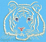White Tiger Portrait #1 - Vodmochka Embroidery Design Picture - Click to Enlarge