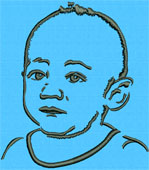 Baby Portrait - Embroidery Portrait Sample - Click to Enlarge