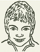 Child Portrait - Embroidery Portrait Sample - Click to Enlarge