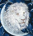 White Lion - Embroidery Portrait Sample - Click to Enlarge