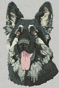 Shiloh Shepherd - Embroidery Portrait Sample - Click to Enlarge