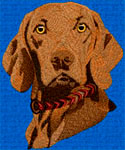 Hungarian Vizsla - Embroidery Portrait Sample - Click to Enlarge