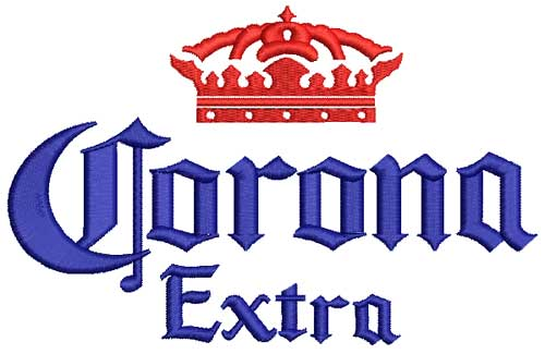 Custom Embroidery Digitizing Sample - Corona Logo